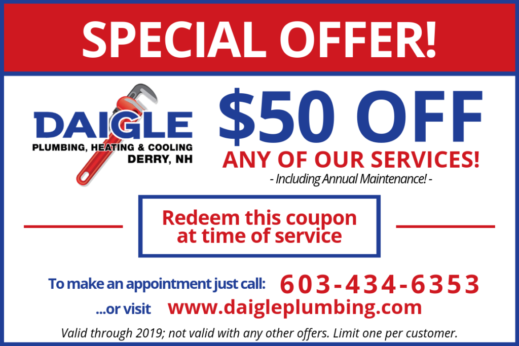 Daigle Coupon for Fifty Dollars Off